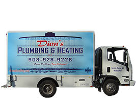 Dion's plumbing and heating's truck